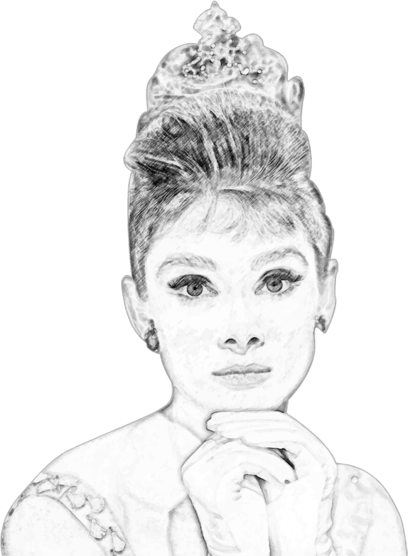 Audrey Hepburn Pencil Sketch Portrait