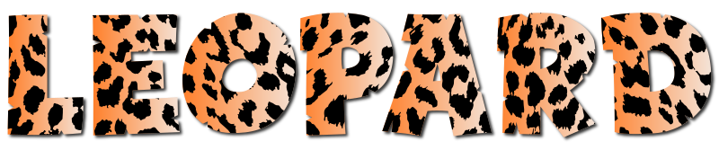 Leopard Typography 2 No Stroke With Drop Shadow