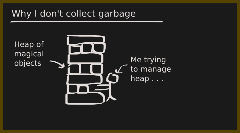 Garbage collecting is hard . . .