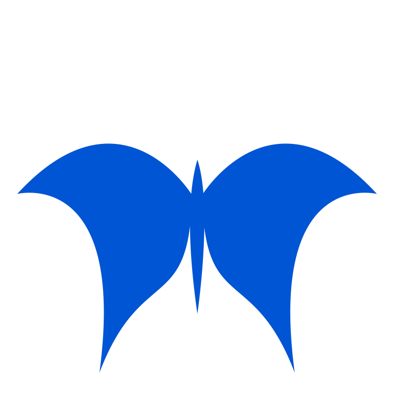 Butterfly- one color- flat.
