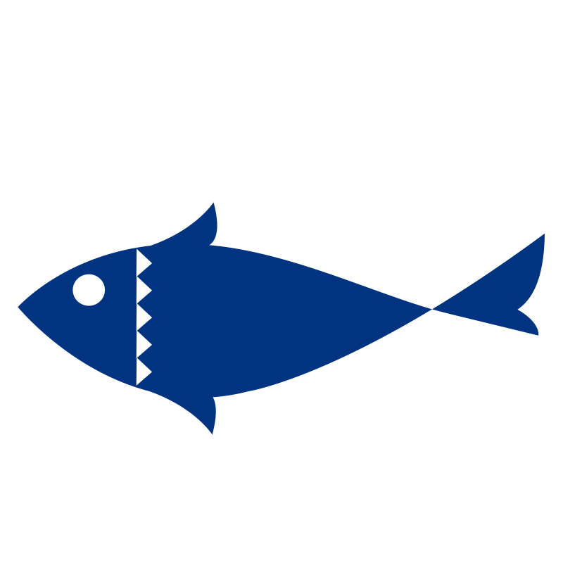 Fish- one color- flat.