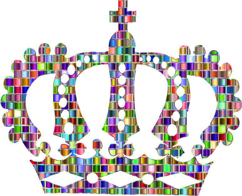 Chromatic Mosaic Royal Crown