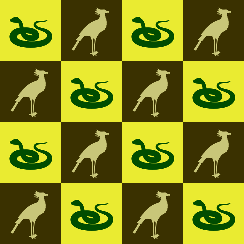 Bird and snake pattern