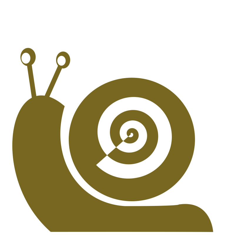 Snail- one color- flat!