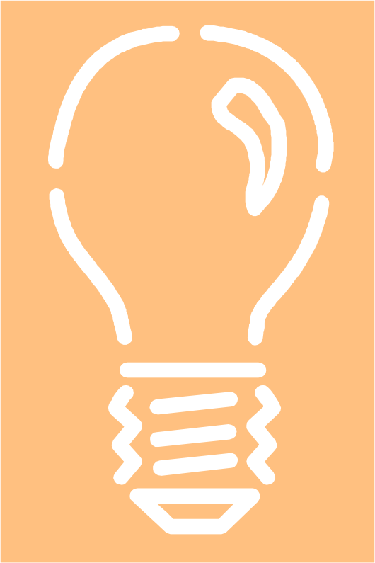Light bulb 4 - white stroke