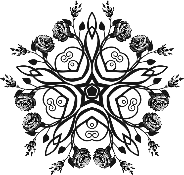 Rose Floral Flourish Design 5