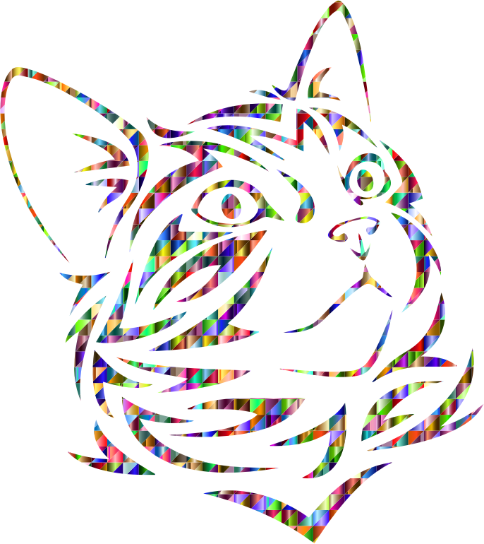 Chromatic Triangular Tribal Kitten