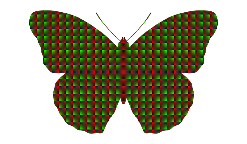 patterned butterfly