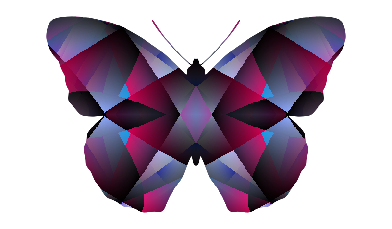 patterned butterfly 2