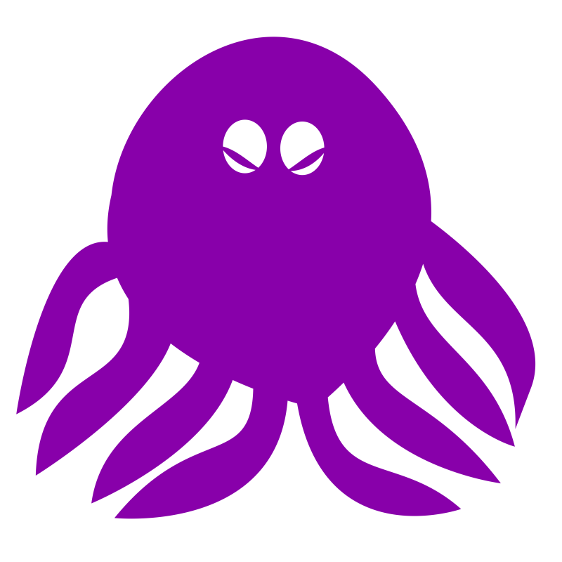 Octopus- one color, highly simplified
