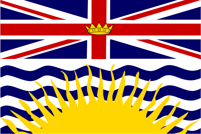 Flag of British Columbia Canada 1