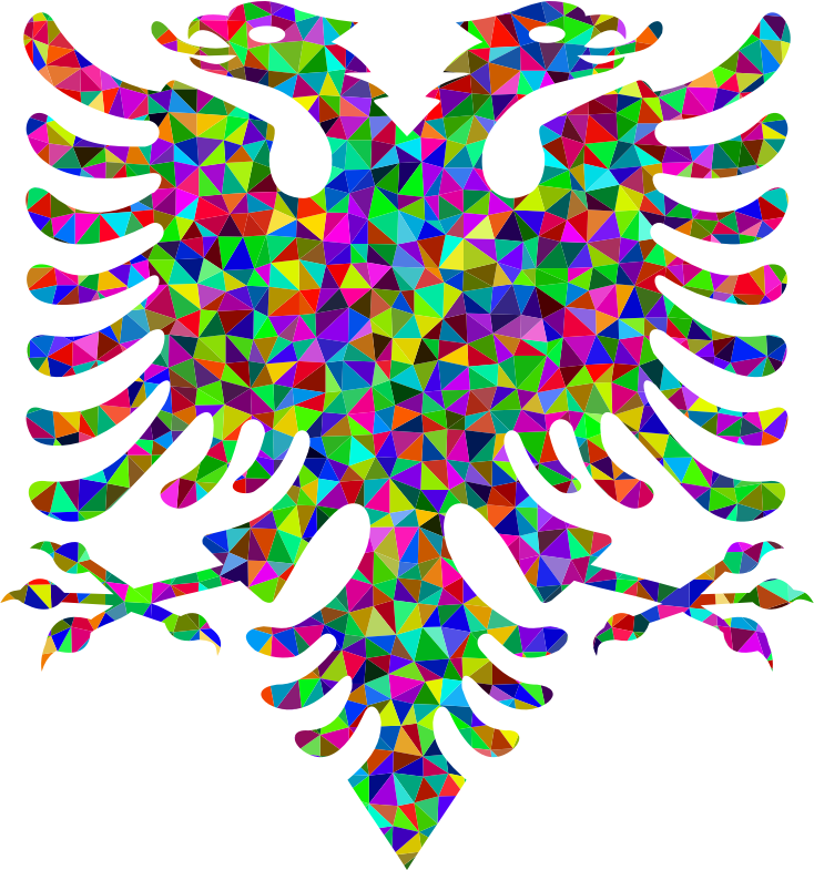 Low Poly Prismatic Double Headed Eagle
