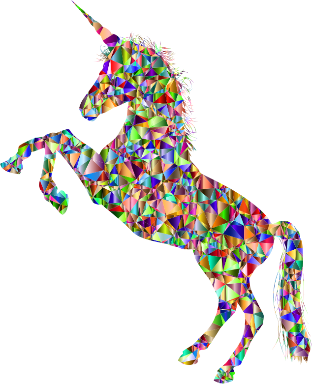 Vivid Chromatic Unicorn Silhouette
