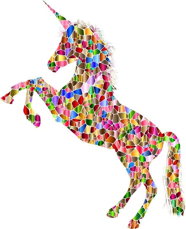 Vibrant Chromatic Unicorn Silhouette