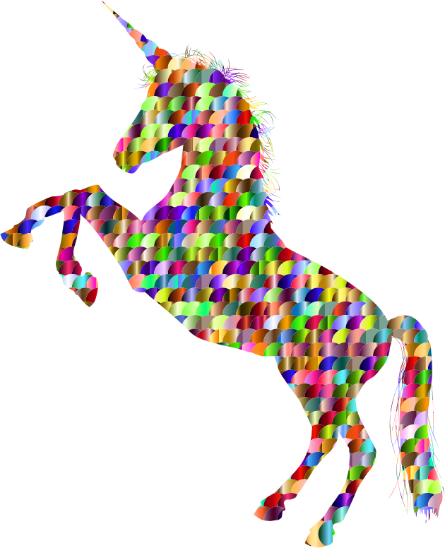 Chromatic Scales Unicorn Silhouette
