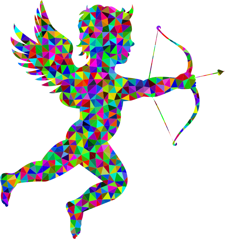 Low Poly Prismatic Martin74 Cupid Silhouette