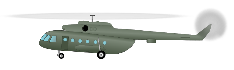 "Mil Mi-17 (""Hip"") helicopter - side view"