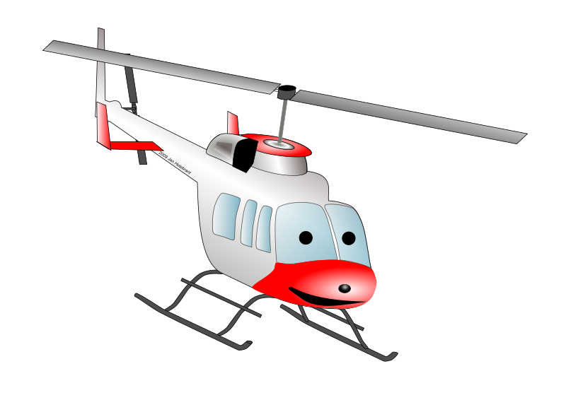 Cartoon Bell helicopter