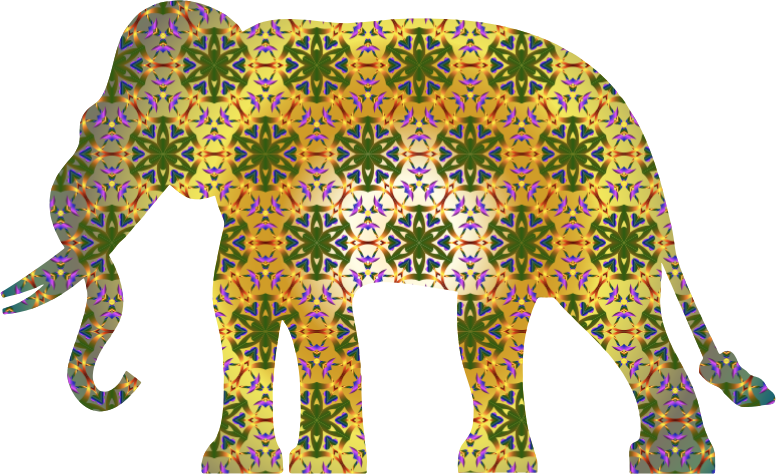 Psychedelic Pattern Elephant