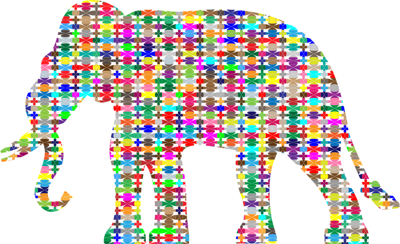 Colorful Pattern Elephant