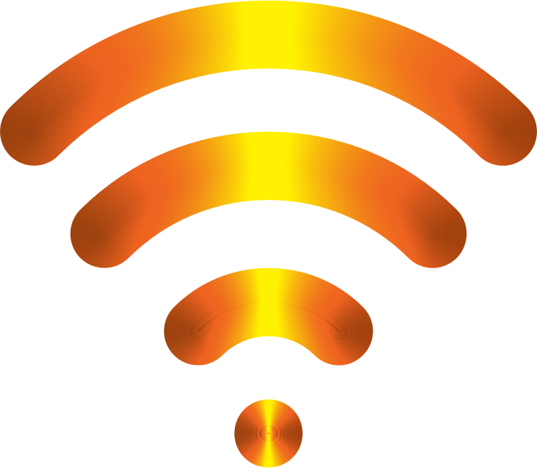 Wireless Signal Icon Enhanced 3