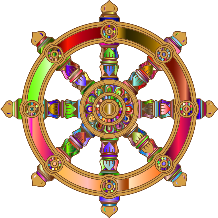 Prismatic Ornate Dharma Wheel