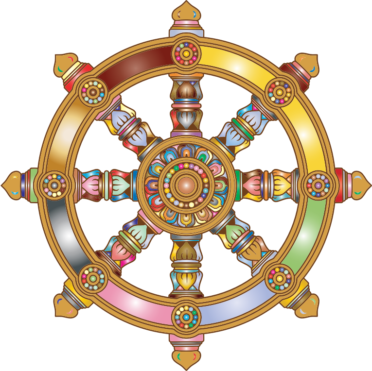 Prismatic Ornate Dharma Wheel 2