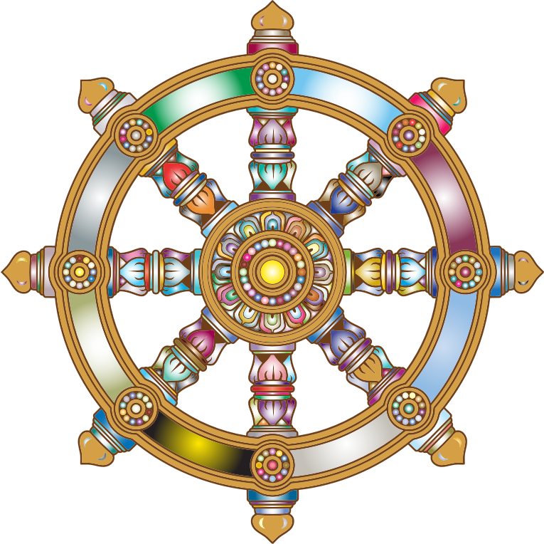 Prismatic Ornate Dharma Wheel 3