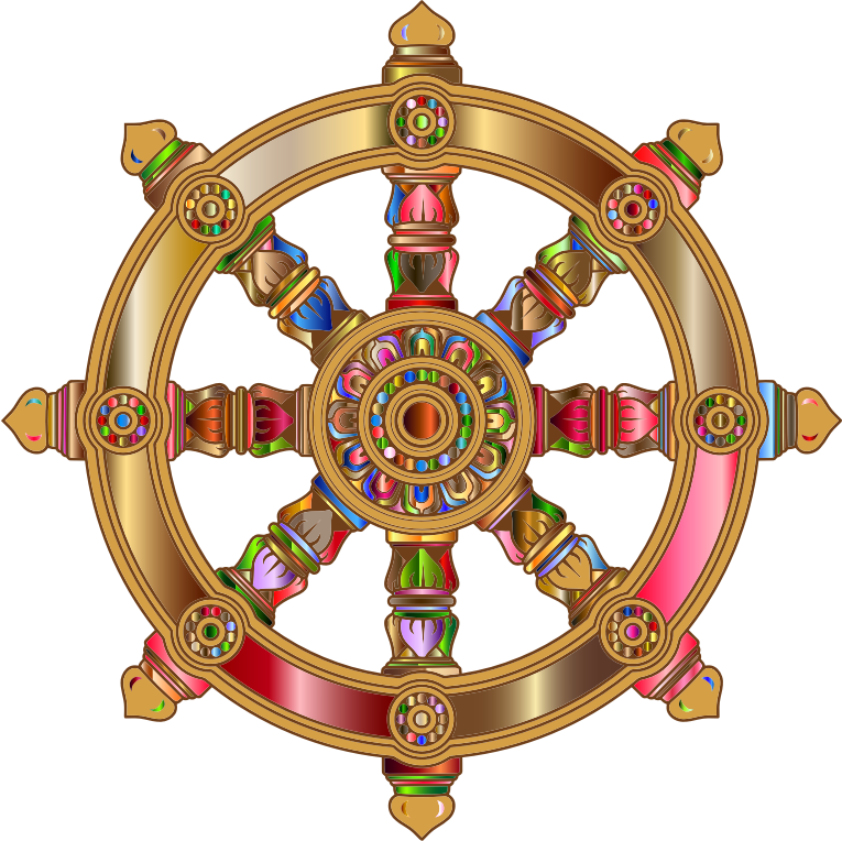 Prismatic Ornate Dharma Wheel 4