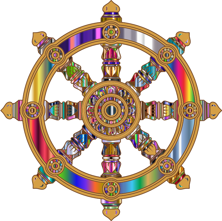 Prismatic Ornate Dharma Wheel 6