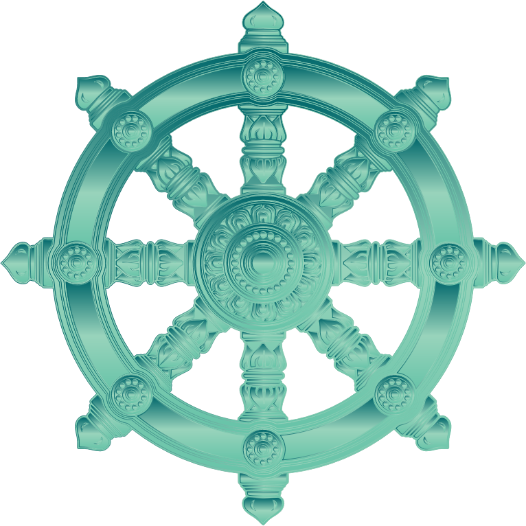 Jade Ornate Dharma Wheel