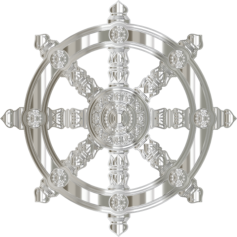Crystalline Ornate Dharma Wheel