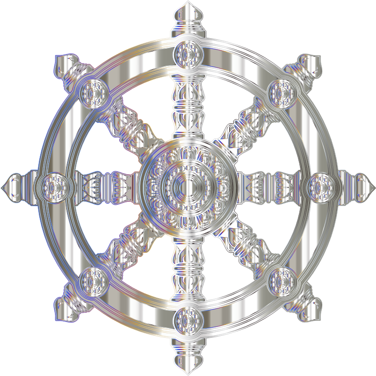 Crystalline Ornate Dharma Wheel Variation 2