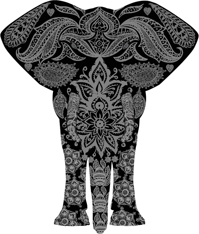Floral Pattern Elephant