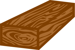 coloured wooden plank