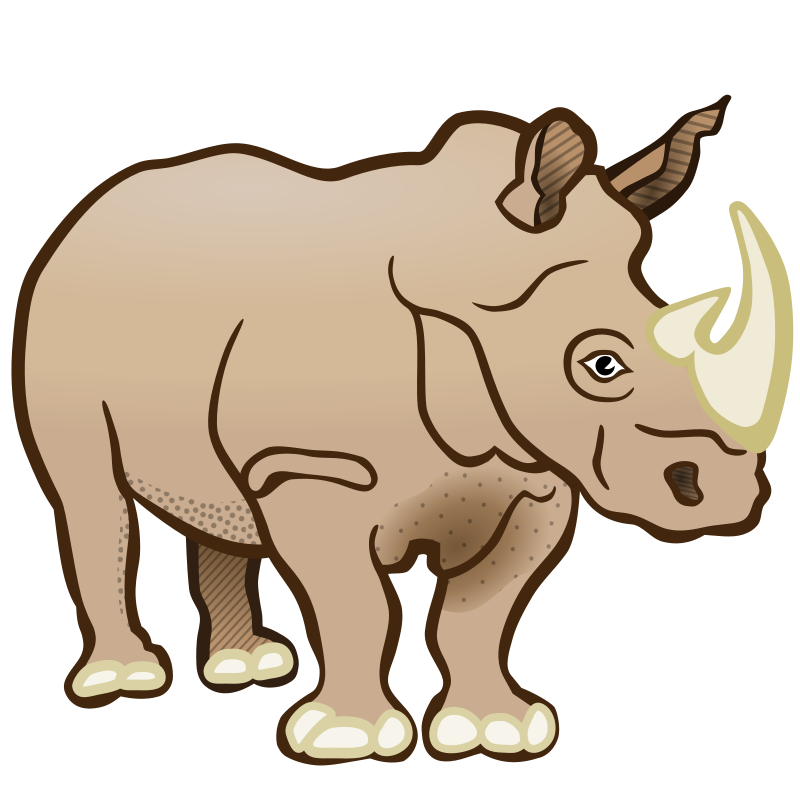 rhino - coloured