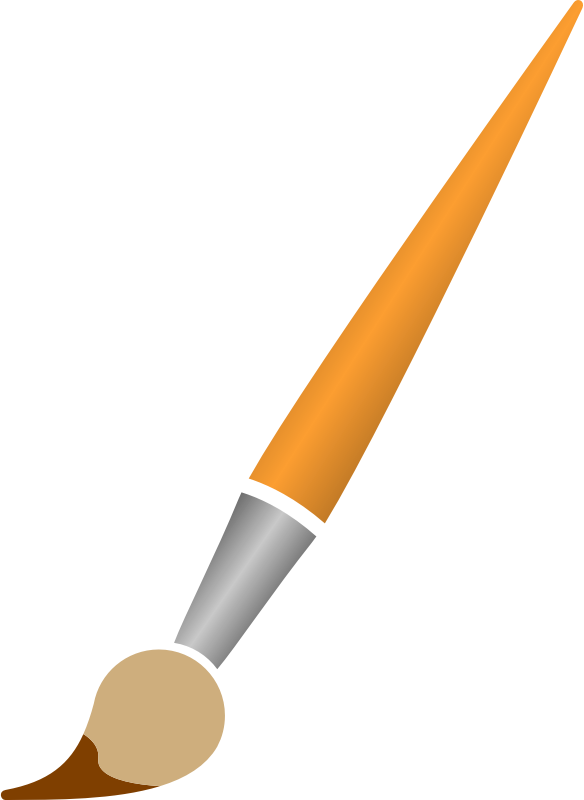 Paint Brush with Brown Dye