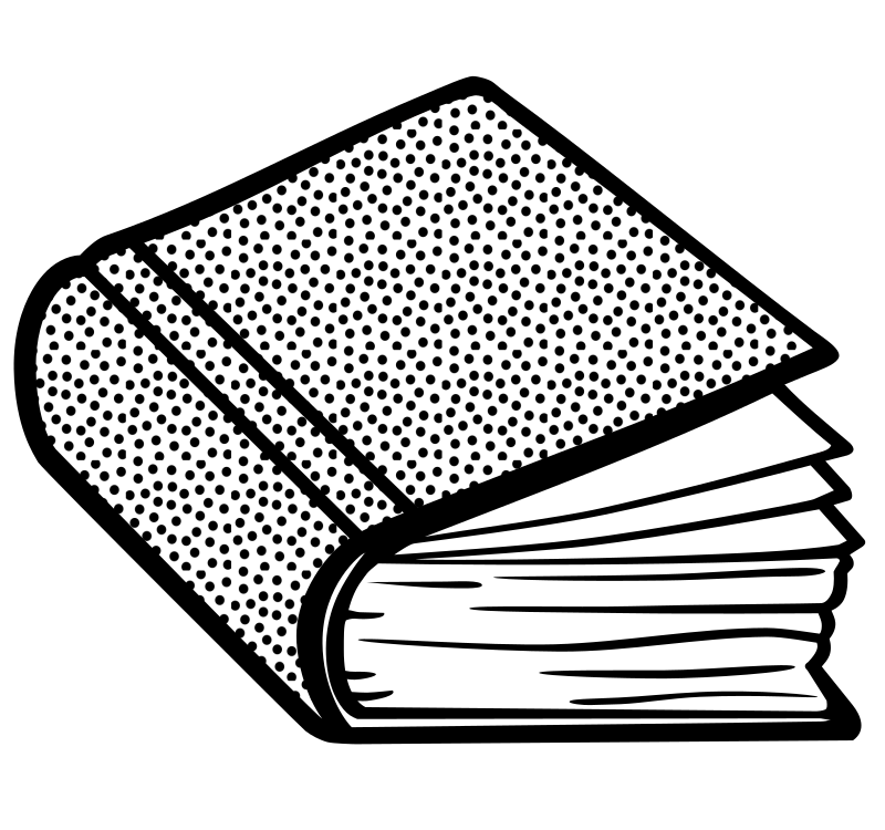 book - lineart