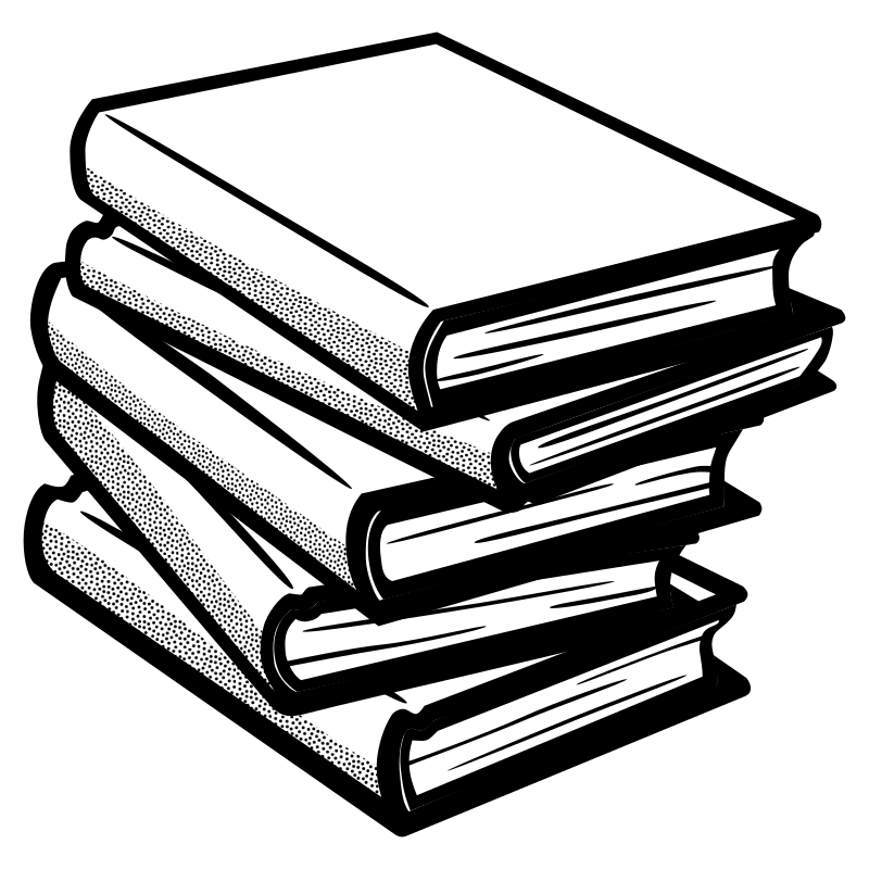 books - lineart