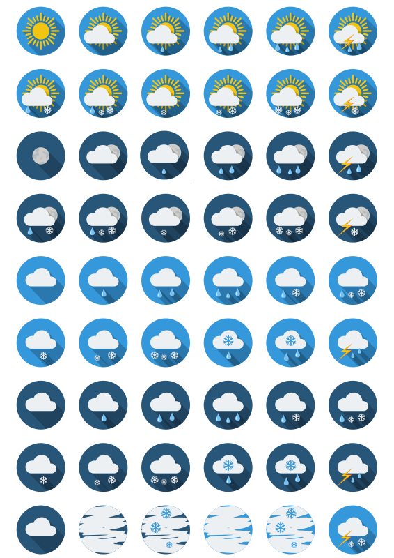 Weather-round-icons