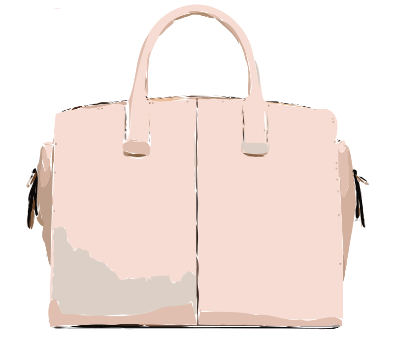 Pink Leather Handbag without logo