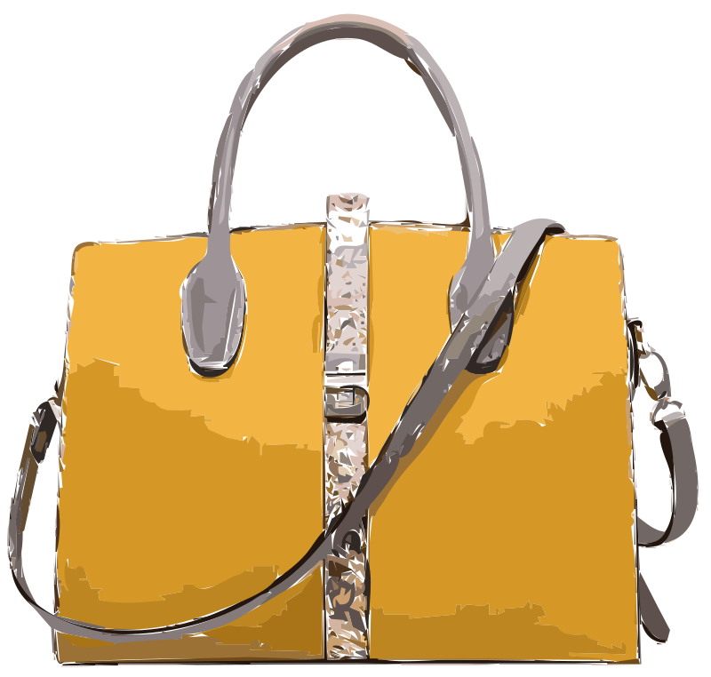 Yellow Leather Handbag No Logo