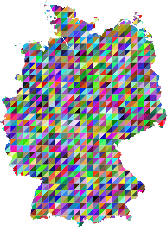 Prismatic Triangles Germany Map