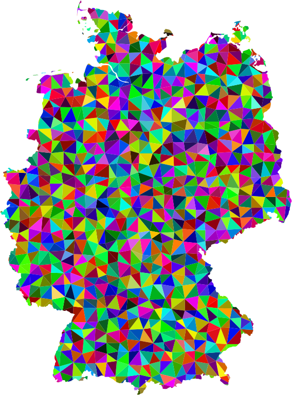 Prismatic Low Poly Germany Map