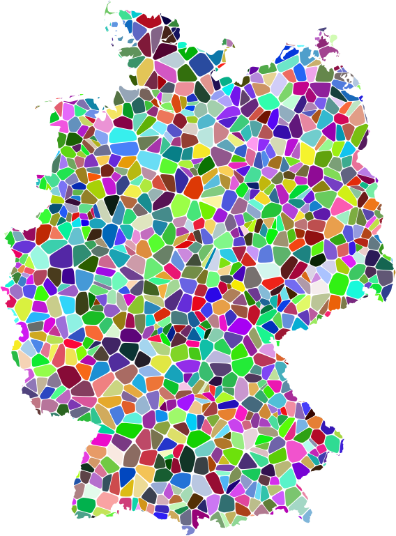 Prismatic Tiled Germany Map