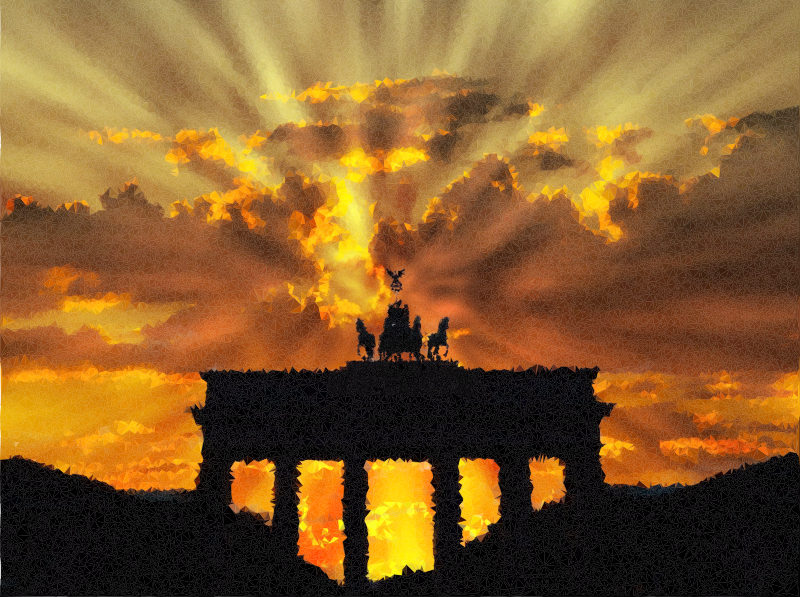 High Poly Brandenburg Gate Rays Of Light