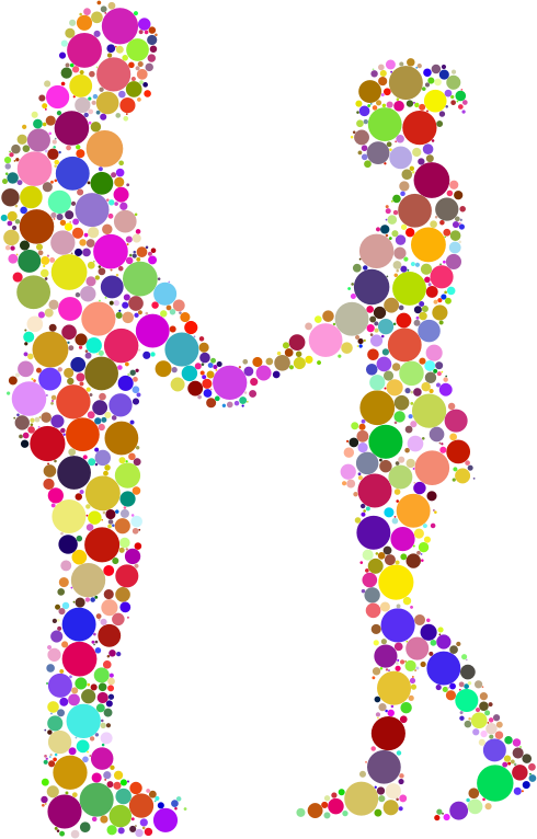 Prismatic Circles Couple Silhouette 6