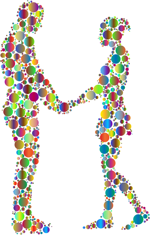Prismatic Circles Couple Silhouette 6 4