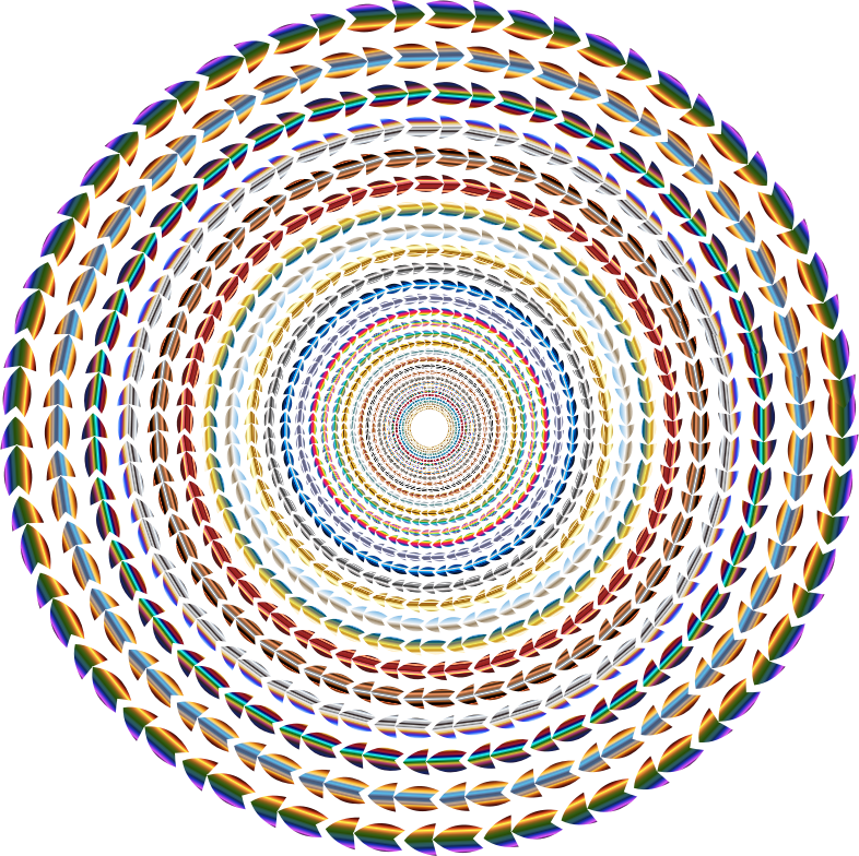 Polychromatic Colorful Direction Circle Vortex No Background