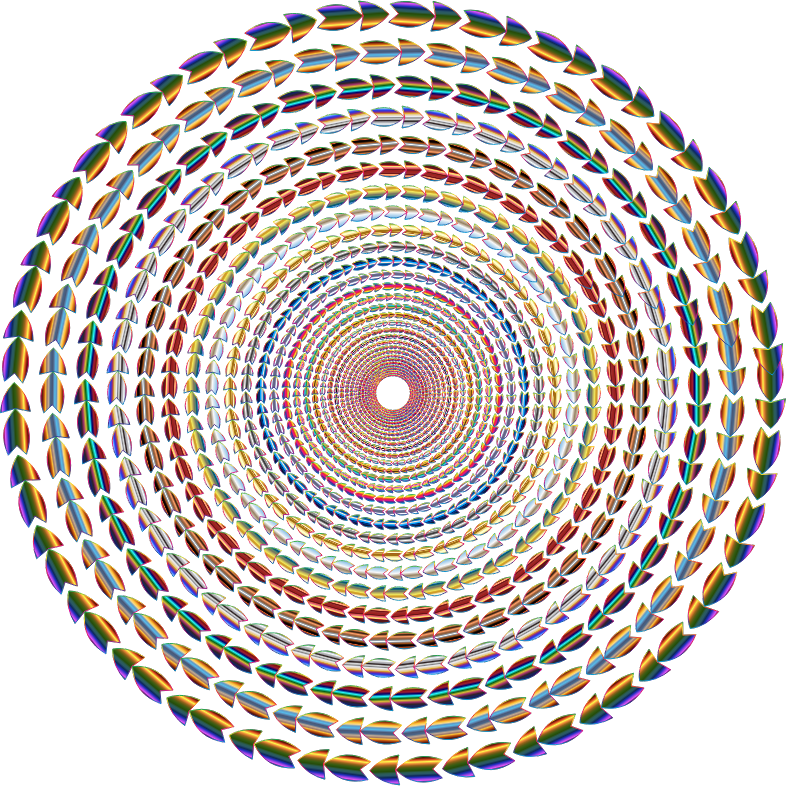 Polychromatic Colorful Direction Circle Vortex Variation 2 No Background